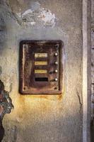 targhetta del campanello della porta foto