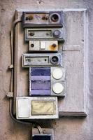 vecchi pulsanti di campana foto