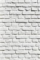 frammento di muro di mattoni bianchi foto