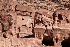 petra nabatei capitale (al khazneh), giordania foto