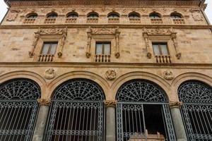 facciata principale del palazzo la salina a salamanca foto