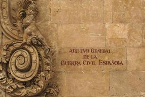 archivo general de la guerra civil, salamanca, spagna foto