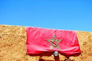 bandiera marocchina foto