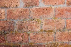 vecchio muro di mattoni rossi foto