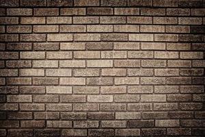 vecchio grunge muro di mattoni in background foto
