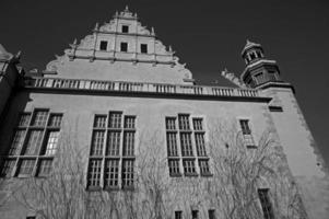 università di sala riunioni in bianco e nero foto