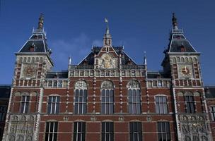 stazione ferroviaria centrale di amsterdam foto