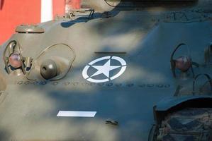 vecchio carro armato Sherman foto