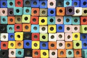 mozaic colorato impilati per lo sfondo foto