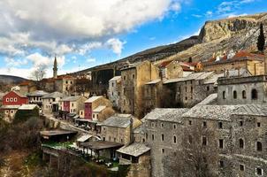 architettura della città vecchia di mostar foto