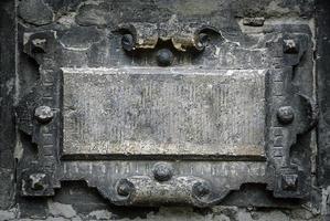 vecchia cornice gotica foto