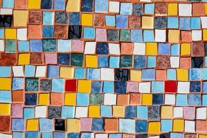 decorazione murale di piastrelle di ceramica foto
