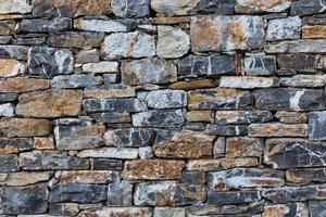 muro di pietre come texture foto