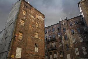 facciata del ghetto di varsavia, varsavia, polonia foto