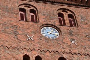 orologio della chiesa foto