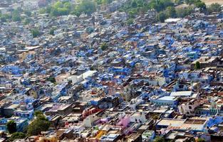 vista della città di chittorgarh dal forte di chittorgarh, foto