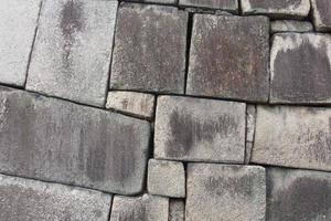 muro di pietra del castello foto