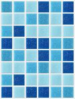 piastrella mosaico quadrato blu trama sfondo decorato glitter