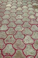 sfondo di pavimentazione in blocchi di pietra foto