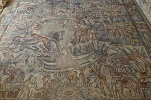 dettaglio delle mattonelle di mosaico del pavimento romano