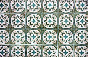 dettaglio di piastrelle smaltate portoghesi. foto