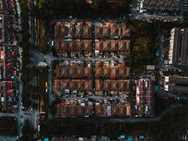 veduta aerea di edifici della città foto