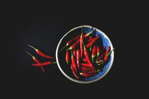 flay lay di peperoni rossi