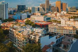 fotografia aerea della città foto
