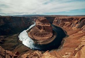 curva a ferro di cavallo in Arizona foto
