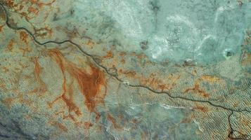 vista aerea della terra foto