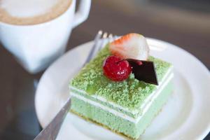 torta al tè verde foto