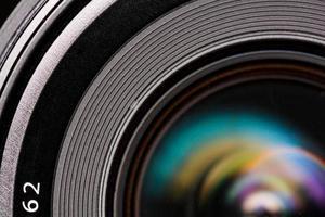 elemento frontale di un obiettivo della fotocamera foto
