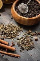composizione di tè alle bacche foto