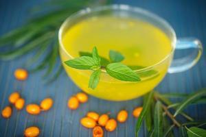 tè con olivello spinoso foto