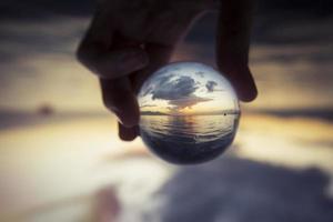 palla di vetro foto