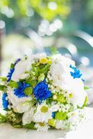 bouquet su sfondo morbido bokeh foto