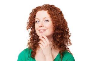 ritratto di una giovane donna felice foto