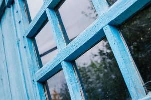 vecchio telaio della finestra. sfondi rurali foto
