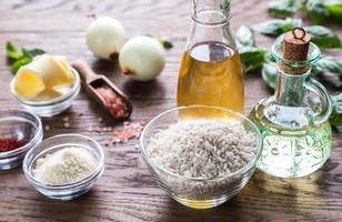 ingredienti per il risotto foto