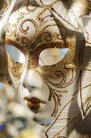 primo piano maschera di carnevale veneziano