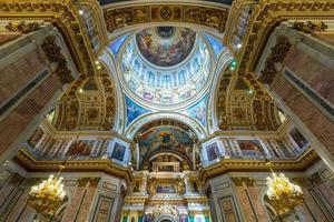 interno della cattedrale di sant'isacco a san pietroburgo foto