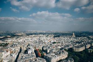 vista aerea della città di parigi foto