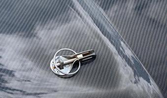 dettaglio di un'auto di lusso foto