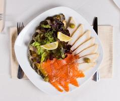 Close up gourmet carnoso piatto principale foto