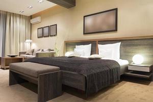 interno della camera da letto moderna foto