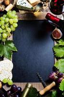 sfondo di vino e uva foto