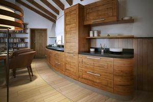 cucina in stile loft foto