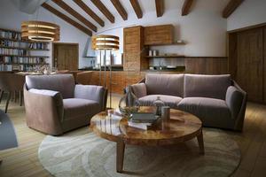 soggiorno in stile loft foto