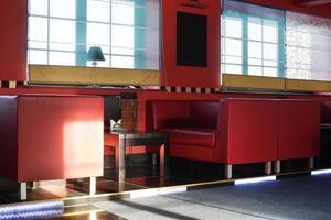ristorante europeo in colori vivaci foto
