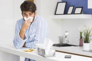 malato a casa foto